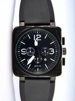 best swiss watch brand - Luxury Men Quartz Chronograph Watches Best Brands Black Rubber Day Date Swiss Vine Square Stopwatch Modern Mens Sport Wristwatch Gift Box