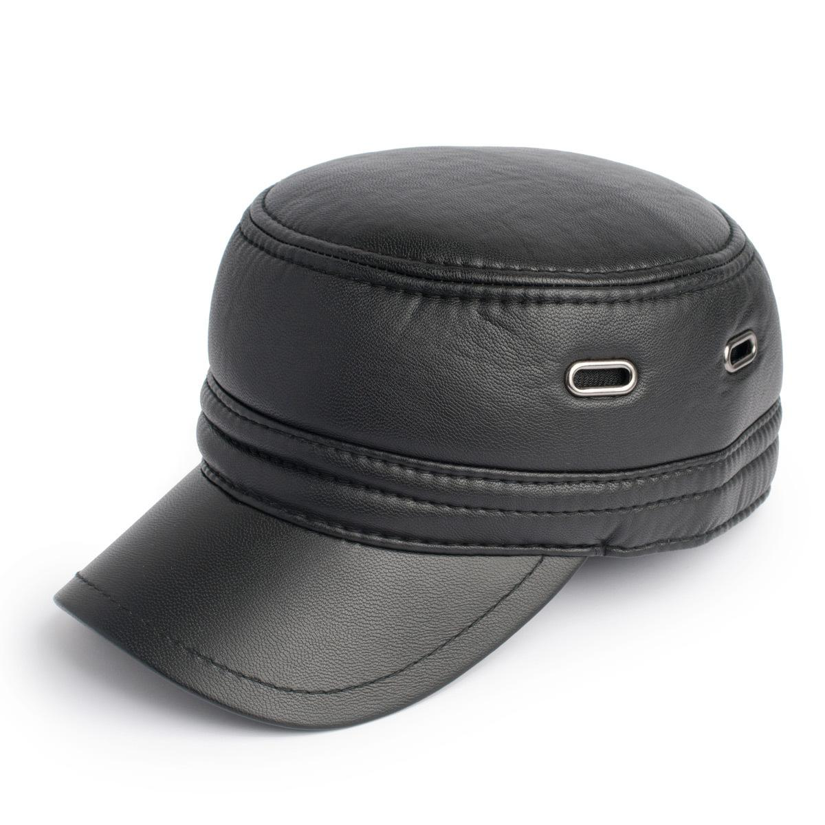 Flat Brim Caps Cap Male Short Brimmed Hat
