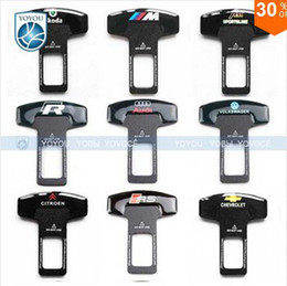 Wholesale Car Logo Car Safety Insert Seat Belt Buckle Metal Adjustable Buckle Seat Belt Auto Emblem Accessories