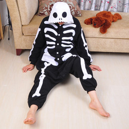 Wholesale Unisex Adult Skeleton Print Costume Zentai Bodysuit Halloween Party Fancy Dress