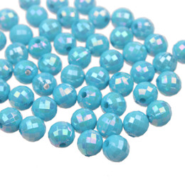 Wholesale New Arrival mm Sky Blue AB Color Chunky Acrylic Turquoise Earth Ball Round Beads for Necklace Jewelry DIY