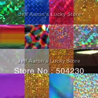Decal 2D Metal 18 rolls colored aluminum nail foil transfer paper nails sticker wholesale