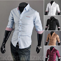 Wholesale high quality cotton dress mens shirt New Spring men s half sleeve slim fit shirts Q0651