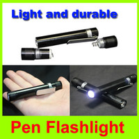Wholesale Mini Pen Flashlight camping Pocket Flashlight outdoor Pen LED Flashlight tactical Torch portable high brightness pen light L