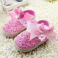 Wholesale Infant Sandal Girls Toddler soft bottom pink Shoes Baby First Walker Shoes Children casual Shoe cm pair TX349
