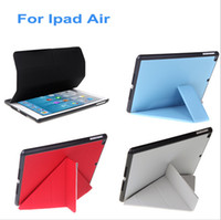 Wholesale 5 Shapes Stand Design Fashion Ultrathin Magnetic Smart leather Case Folio Protective Cover Stand for iPad Air Sleep Wake C1850