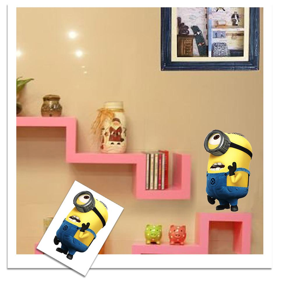 Minion Bedroom Despicable Me 2 Minion Movie Decal Wall Stickers Cute Kids