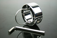 Steel   Male Stainless steel ball stretcher chastity Metal Rings cock ring adult sex toy