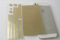 Wholesale Full Body Wrap Decal Skin Sticker Champagne Gold Silver for iPhone s s