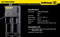 Wholesale Best Quality Nitecore I2 Universal Charger for Battery E Cigarette in Multi Function Intellicharger