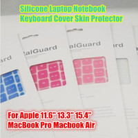 "Dustproof Silicone  Colorful 10 Colors Silicone Laptop Notebook Keyboard Cover Skin Protector For Apple 11.6"" 13.3"" 15.4"" MacBook Pro Macbook Air"