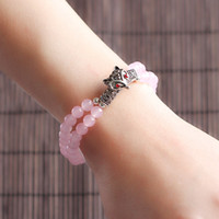 Wholesale 2014 Sale Rushed Jewelry bracelet Sesame Natural Semi precious Beads jewelry fashion lucky rose quartz bracelet
