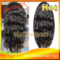 Natural Color Brazilian hair Loose Wave Cheap Loose Wave Full Lace Wig Unprocessed Brazilian Virgin Human Hair Lace Front Wigs For Black Women With Baby Hair Bleached Knots Stock