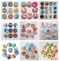 button badge - Despicable me Mario Cars Birds Bear Princess Stitch METOO Ben Cartoon Accessories tin badge fashion pin badge badge button gift25mm