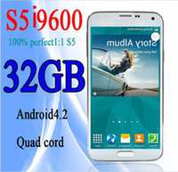WCDMA Quad Core Android HDC S5 phone I9600 phone MTK6589 Quad Core Android 4.4.2 OS 2GRAM 32GB under glass GPS Wifi smart phones