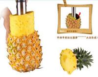 Pineapple Slicers Pineapples - Fashion Hot Novelty Home holds stainless steel Fruit Pineapple Corer Slicer Peeler Cutter Parer Knife