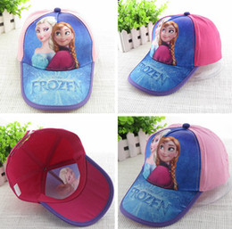 Wholesale 2014 New Spring Summer Lovely Child Frozen Ear Muff Hats Baby Baseball Cap Baby Hats Kids Pretty Elsa Sun Caps boy snapback hats Caps melee