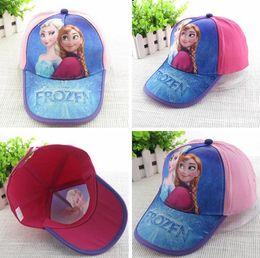 Wholesale 2014 New Spring Summer Lovely Child Frozen Ear Muff Hats Baby Baseball Cap Baby Hats Kids Pretty Elsa Sun Caps boy snapback hats Caps melee