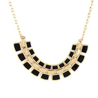 Wholesale New Coming Gold Alloy Fashionable Hollow Out Enamel Punk Statement Necklaces