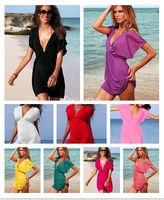 Polyester Women Bikinis Free shipping100PCS Lot 2014 New Women Sexy Nylon Swimwear Dress Bikini Cover Up Beach dress 14 colors for your choices