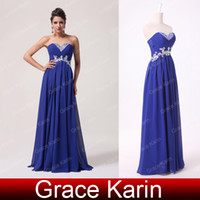 Sweetheart grace karin - Grace Karin Hot Sale Sexy Evening Gowns Sweetheart Backless Long Chiffon Beaded Crystal Prom Dresses CL6003