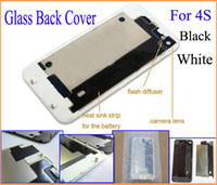 Wholesale Brand new high quality Back Glass Battery Cover Back Housing for G S Black White Color