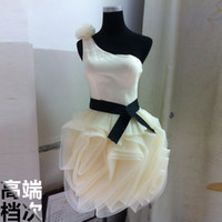 Wholesale Korean princess tutu bridesmaid dress new short section of the bride wedding toast served sisters shoulder dress