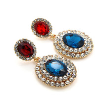 Wholesale Brand New GUST Rhinestone Crystal Fahion Elegant Party Earings Drop Earring Fahion Simple for Women Girl Gift E056