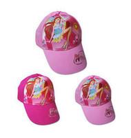 Girl Summer Ball Cap -WinxClub Snapback hats brand Chirdren sports baseball caps hiphop cap Free Shipping 50pcs