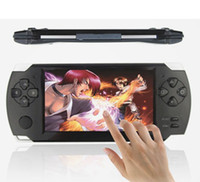 Wholesale 4 inch capacitive screen vedio game Consoles G built in memory MP5 ultra thin Game Console