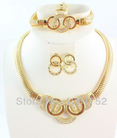 Wholesale k Gold Plated Chunky Fashion Jewelry African Costume Jewelry Set Necklace Fashion For Women