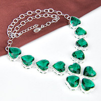 Wholesale 925 silver fashionable necklace GREEN jewelry for wedding N0520