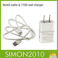 Wholesale 2 in Charger Kits Galaxy note3 Sync Data Cable USb Wall Charger home Adapter Charging For Samsung Galaxy note3 black and white