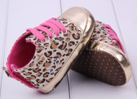 Unisex baby grains - Hot selling pair Leopard grain design Brand Baby First Walkers boy Girl Shoes toddler Infant Newborn shoes antislip Baby footwear