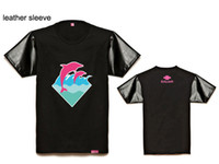 Wholesale Big Promotion Pink dolphin brand fashion male clothing short sleeve o neck t shirt lovers tee shirt