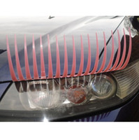 Head auto decals - 2pieces Pair Pink D Automotive Eyelash Auto Part Stickers Car Eyelash Lights Decal