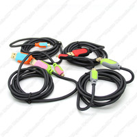 Wholesale 1 m ft Fabric USB Charger Cable Braided Steel Wire Mesh Data Sync Charging Cord Nylon Extension Lead