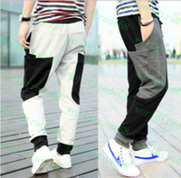 Wholesale New Fashion Men Baggy Pant Trousers With Big Pockets Cargo Pant Draw Cord Waist Harem Pants Autumn Outdoor Sport Pant