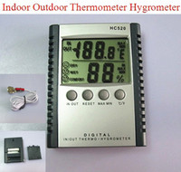 Digital Living Room  Thermometers Plastic Weather Station Indoor Outdoor Thermometer Hygrometer