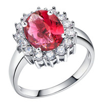 Cluster Rings Bohemian Women's 18K white gold plated Silver Color Jewelry Wedding Love some color chose Stone CZ Zircon Ring women pretty cute Diamond ring Finely Cut