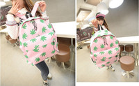 Wholesale Casual Women s Maple leaf Canvas Backpacks Girl Lady Student School Travel bags