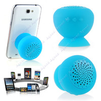 Wholesale Blue Mushroom Mini Bluetooth Speaker Wireless Waterproof Silicone Suction TK1390
