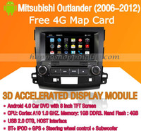 Wholesale Android DVD Player GPS Navi for Mitsubishi Outlander with Wifi G Touch Screen Bluetooth Virtual Disc P Mitsubishi Car DVD