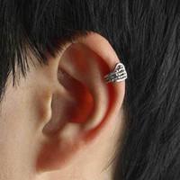 Wholesale New Skeleton Skull Hand Ear Cuff Wrap Cartilage Earrings Clip Men Women On Silver Gold Hot Sale