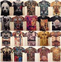 Wholesale lady Men s Women Animal Vintage Painting T shirt Casual Street Wear Tshirt d Print TeesM XXL