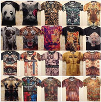 Wholesale lady Men s Women Animal Vintage Painting T shirt Casual Street Wear Tshirt d Print TeesM XXL