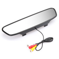 Wholesale 2 in quot Digital Color TFT LCD screen Car Rearview Mirror security monitor for Camera DVD VCR PAL NTSC Multi language K916