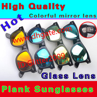 Wholesale New Style Women s Sunglasses High Quality Plank Sunglasses Color film Lens Sunglasses glass Lens New Men s Sunglasses Metal hinge Sunglasses