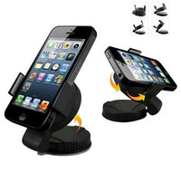 Wholesale New Universal Car Windshield Mount Phone Holder Bracket For iPhone Phones GPS PSP iPod