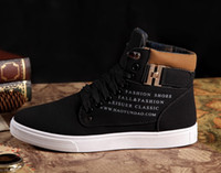 Wholesale Zapatos de Hombre Mens Fashion Spring Autumn Leather Shoes Street Men s Casual Fashion High Top Shoes Canvas Sneakers